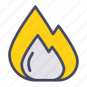 burn, fire, flame, kitchen icon