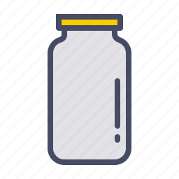 bottle, jar, kitchen, pickle, store, vessel icon