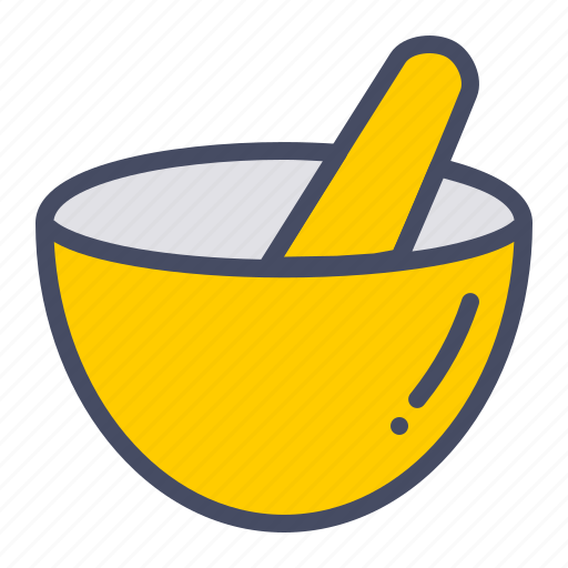 bowl, grind, hand, kitchen, mix, mortar, pestle icon