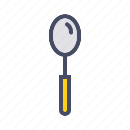 cutlery, eat, serve, spoon, tableware icon