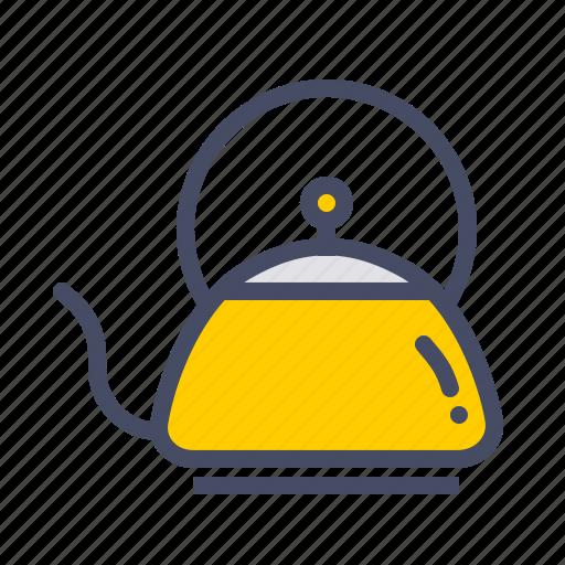 boil, brew, drink, kettle, kitchen, pot, tea icon