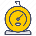 appliance, food, kitchen, measure, temperature, thermometer icon