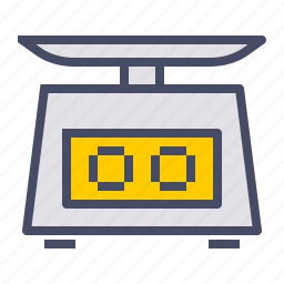 digital, food, grams, measure, scale, weigh, weighing icon