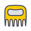 kitchen, meat, shredder, utensil icon