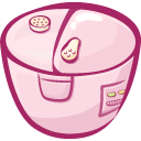 cooker, filled icon