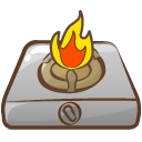 camping, fire icon
