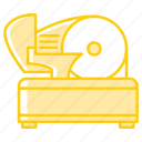 appliance, equipment, kitchenware, meat, restaurant, slicer, tool icon