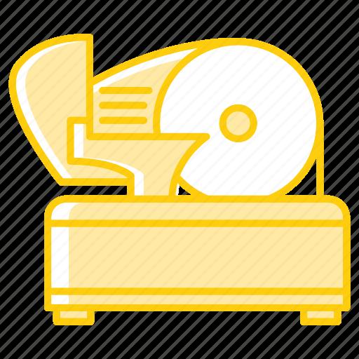appliance, equipment, kitchenware, meat, restaurant, slicer, tool icon