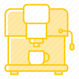 coffee, kitchenware, machine, maker icon
