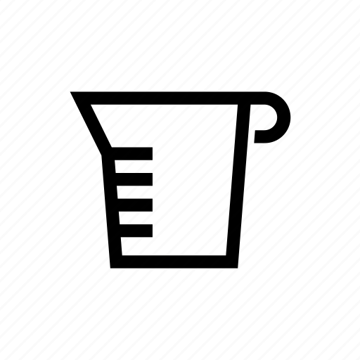cooking, cup, measure, measurement, utensil icon