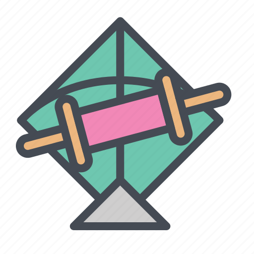 Fetival, fly, kit, patang, rollar, skey, string icon - Download on Iconfinder