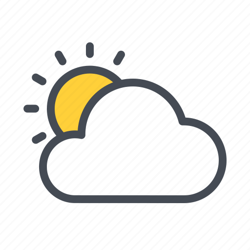 Cloud, sun, sunny, under, uttarayana, weather icon - Download on Iconfinder