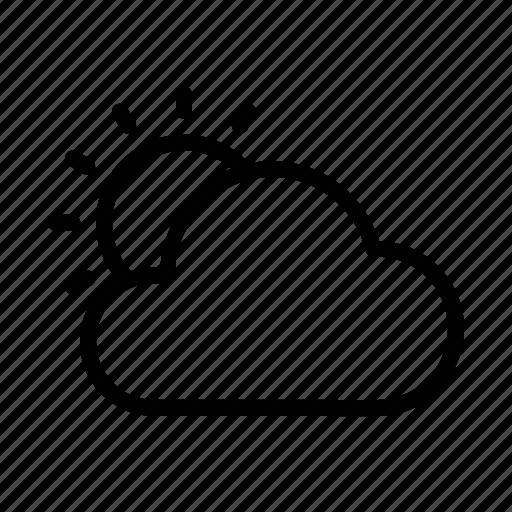 cloud, sun, sunny, under, uttarayana, weather icon