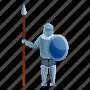 dragon, horse, knight, man, spear