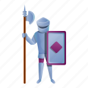 castle, horse, house, knight, ornament, spear