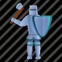 sport, horse, man, school, knight, axe