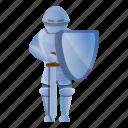 sport, sword, shield, knight, retro, man