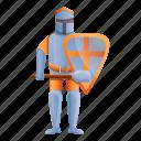 crusader, knight, man, orange, person