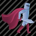 knight, man, manta, red, sport