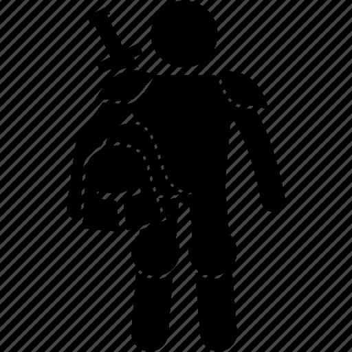 character, helmet, hero, knight, warrior icon