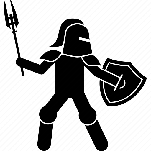 battle, knight, shield, war, warrior, weapon icon