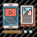 ebook, education, knowledge, learn, school icon