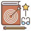 book, education, favorite, knowledge, lessons, school icon