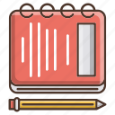 school, knowledge, note, notebook, reminder, education icon