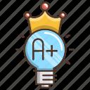 best, education, grade, idea, knowledge, school icon