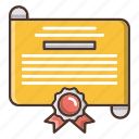 school, education, diploma, certificate, knowledge icon