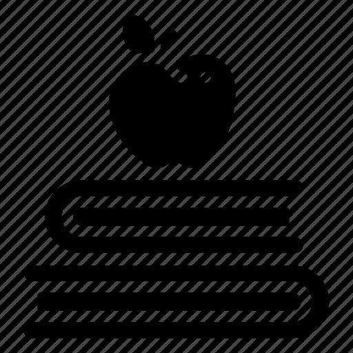 apple, book, creative, intellect, intelligence, knowledge, wisdom icon