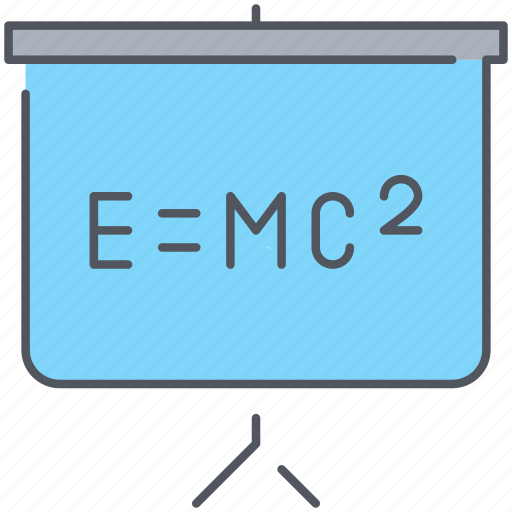 blackboard, education, formula, knowledge, learning, math, science icon