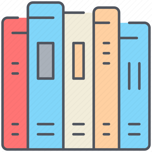 books, education, exam, knowledge, library, reading, study icon