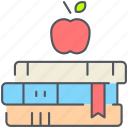 books, education, exam, knowledge, library, study icon