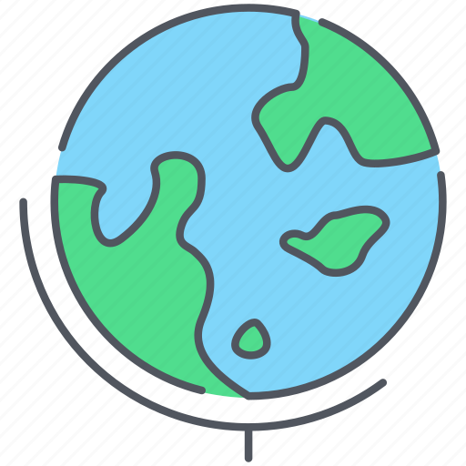 earth, globe, international, planet, school, world, world map icon