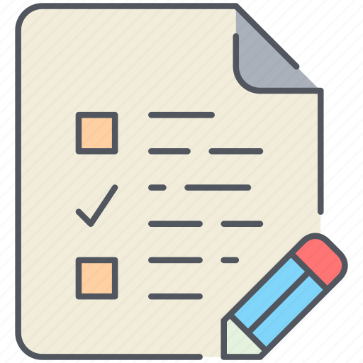 document, exam, examination, file, paper, to-do, write icon