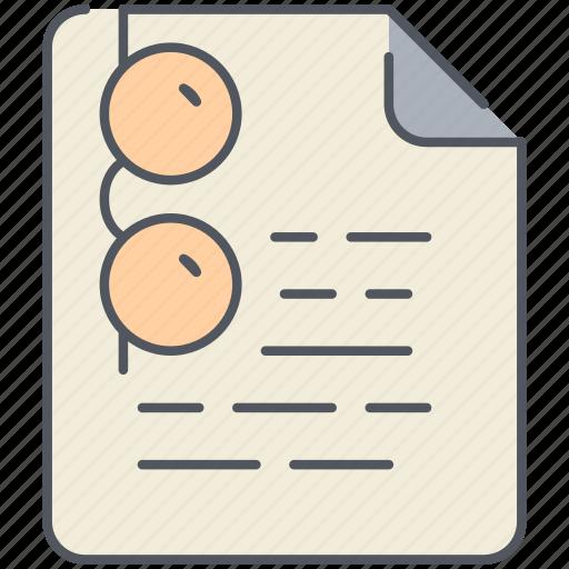 document, education, exam, examination, paper, school, study icon