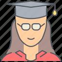 female, student, college, girl, graduation, knowledge, university