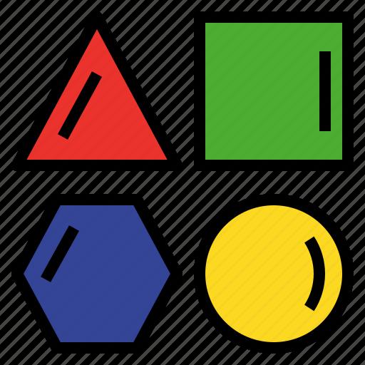 differentiate, discriminate, distinguish, geometry, polygon, shape icon