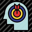 aim, concentrate, focus, goal, spotlight icon