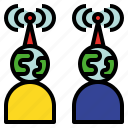 communication, connect, remote, transmissible, transmission, wireless icon