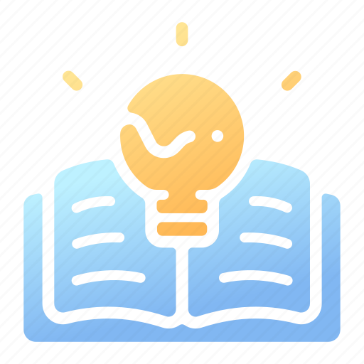 book, creative, idea, intelligence, knowledge, lamp, wisdom icon