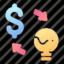 business, concept, dollar, idea, income, investment, make icon