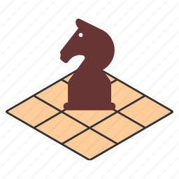 board, chess, game, hobby, horse, play, strategy icon