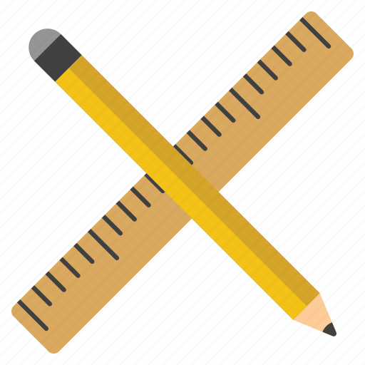 design, draw, drawing tools, paint, painting, pencil, ruler icon