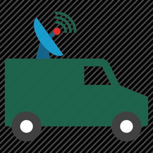 antenna, car, locator, mobile, radar, radio control, vehicle icon