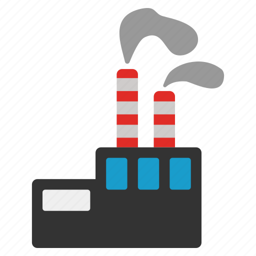 ecology, environment, fabric, factory, industry, power plant, production icon