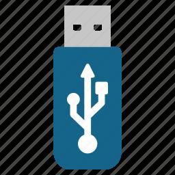 data, drive, flash, memory, storage, thumb drive, usb icon