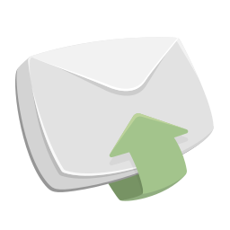 arrow up, email, envelope, inbox, letter, mail, recieved icon