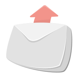 arrow up, email, envelope, mail, outgoing, send, sent icon